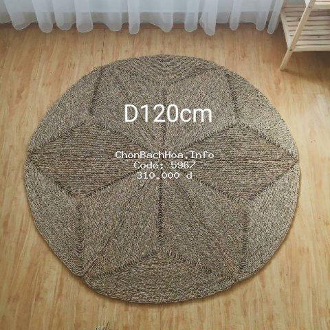 (SALE 3 NGÀY) Thảm cói tròn múi đặc 1m2 hàng đẹp
