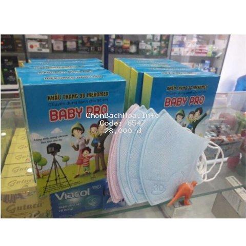 [SALE SẬP SÀN] Khẩu trang Y tế mịn, mềm, không đau tai , kháng khuẩn cho bé BABY PRO.