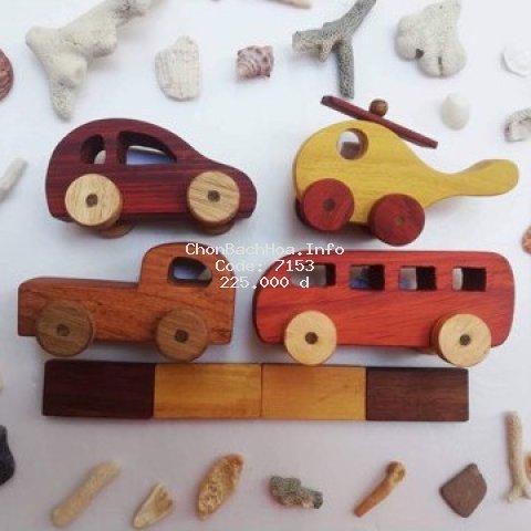 (BÁN CHẠY NHẤT) Set 4 xe oto đồ chơi bằng gỗ cực hấp dẫn lại an toàn tuyệt đối cho bé