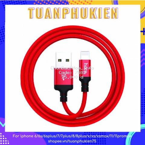 Cáp Sạc Iphone ⚡  Cáp Lightning Hoco X14 ⚡Dây Dù 1M Chính Hãng Cho Iphone-IPad-Pin Dự Phòng-Airpods- Tuấn Phụ Kiện
