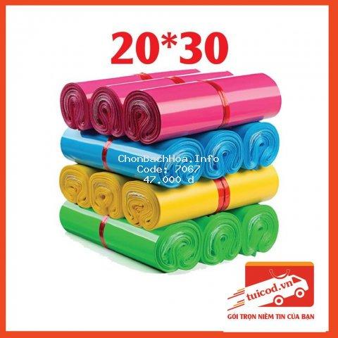 [COMBO 100] Túi Đóng Hàng Niêm Phong Tự Dính Size 20x30cm Đóng Gói Quần Áo, Phụ Kiện 1-2 Sản Phẩm