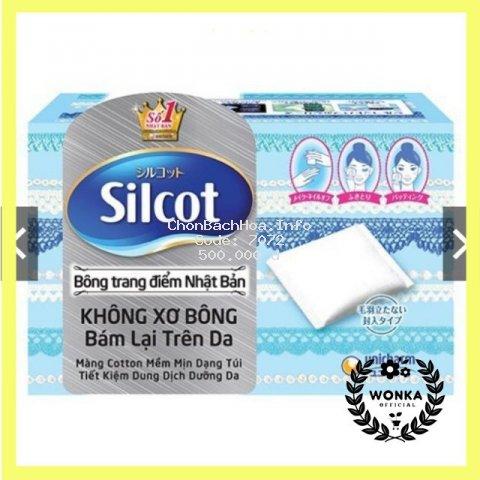 Hộp Bông trang điểm (bông tẩy trang) Silcot 82 miếng/hộp