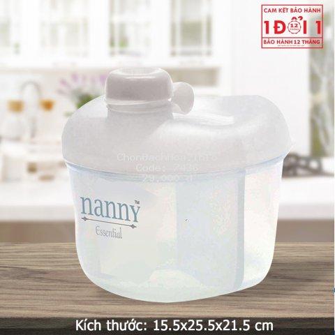 Hộp chia sữa 3 ngăn tiện lợi cho bé Nanny N200D9PC1 NK Thái Lan