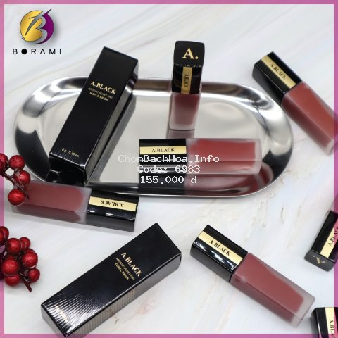 {HOT NEW} Son Kem Lì A. BLACK Artistic Velvet Tint Lux Red by CLIO COSMETICS (Sẵn)