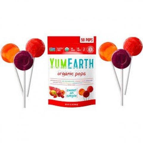 Kẹo Mút hữu cơ cho bé Yumearth Organic Pops (1 cây)