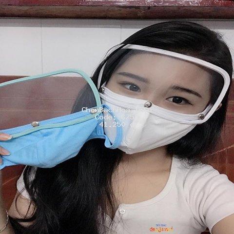 Kính che mặt và khẩu trang vải chống dịch tiện lợi hiện đại