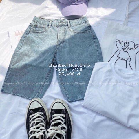 [Mã WA0808 giảm 12% đơn 99k] Quần Jeans Ngố Nữ Rách 1 Line