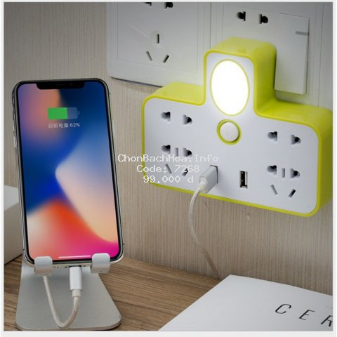 Ổ cắm điện đa năng có cổng USB và đèn ngủ_(CÓ BẢO HÀNH)