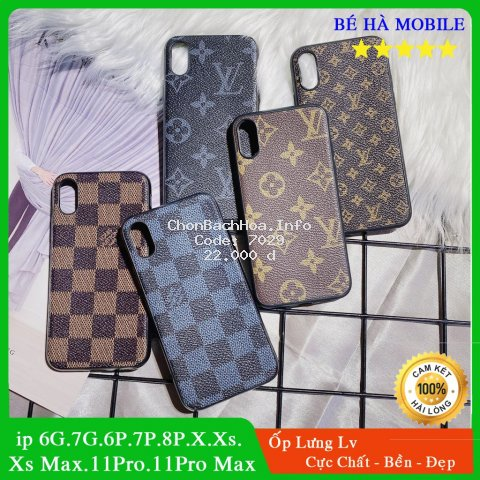 Ốp Lưng iPhone LV Sang Trọng (Silicon - Mềm - Mịn ) 6.6plus.6s.6s plus.7.7plus.8.8plus.x.xs.xs max.11.11 pro.11 promax