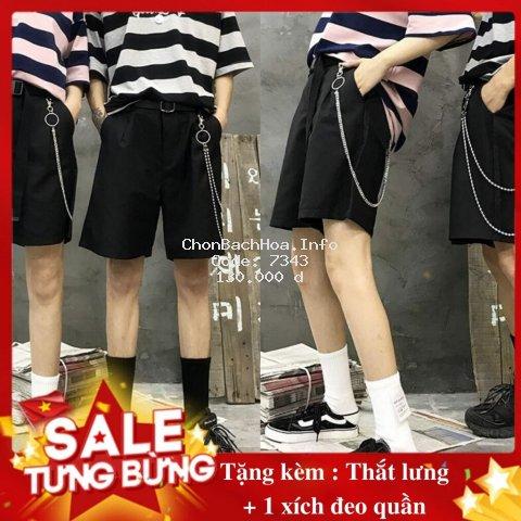 Quần short kaki [mua 1 tặng 2] Quần short kaki tặng kèm xích quần và thắt lưng ( có video và ảnh thật )