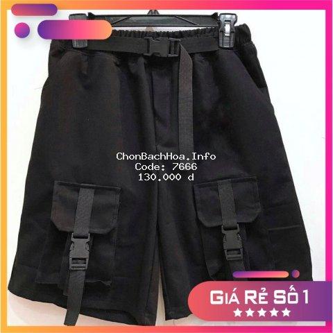 Quần short túi hộp  phối xích thắt lưng ? Size M -2XL ( có ảnh thật và clip review )