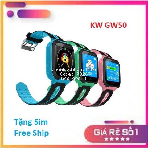[Sale Khủng - Free Ship - Tặng Sim 4G_Sạc] Đồng Hồ KIDS WATCH GW50 Có Camera_Đèn Pin