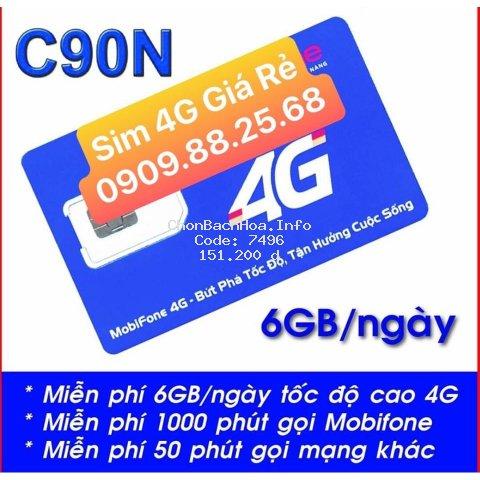 Sim 4g Mobifone C90N