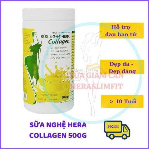 Sữa Nghệ HERA Collagen HC01 Đẹp Dáng -  Đẹp Da - Hỗ Trợ Đau Dạ Dày [CHÍNH HÃNG](HỘP 500GRAM)