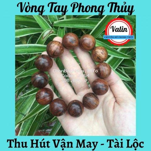 Vòng tay gỗ Sưa đỏ phong thủy ❤️ Valin Shop ❤️ Vòng tay mang đến may mắn , tài lộc