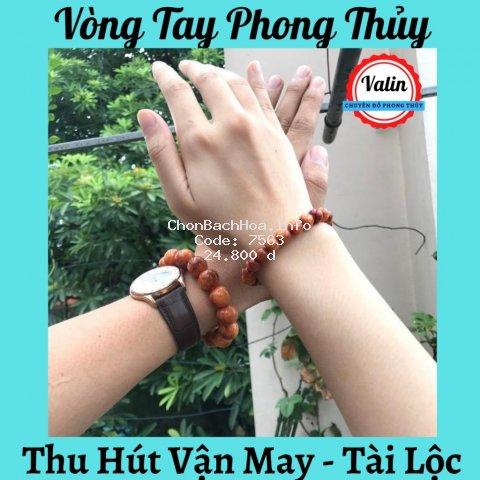 Vòng tay nữ gỗ Huyết Long thấu quang 8ly thơm nức ❤️ Valin Shop ❤️ Thu hút tài lộc