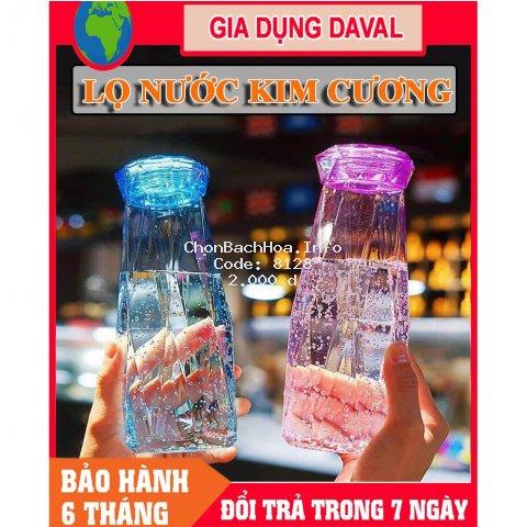 Bình nước Thủy Tinh Kim Cương Đựng Nước 500ml BT10- Chai nước kim cương -Lọ nước kim cương