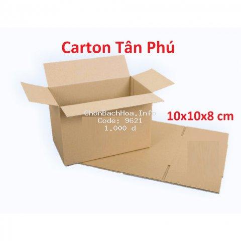 10x10x8 - 1 Thùng carton đóng hàng nhỏ XẢ KHO ♥️ FREESHIP ♥️ TP1