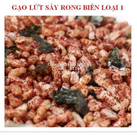 1kg gạo lứt sấy rong biển thơm ngon ăn liền cho người ăn chay và tiểu đường