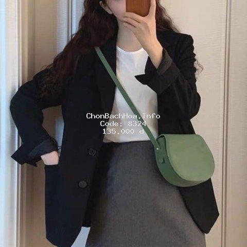 Áo Blazer màu đen, áo vest tay dài trơn cho nữ