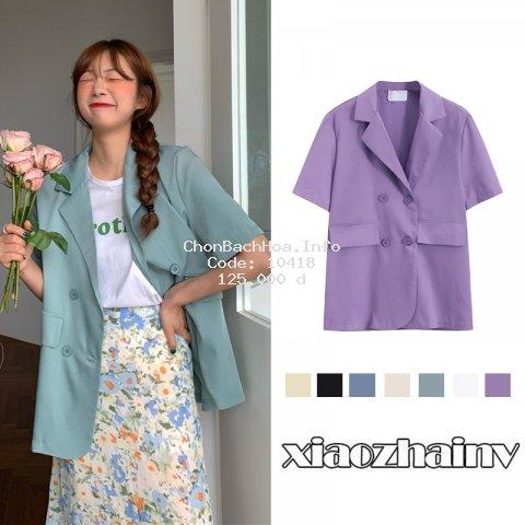 Áo Blazer ngắn tay thời trang Hàn Quốc dễ phối đồ