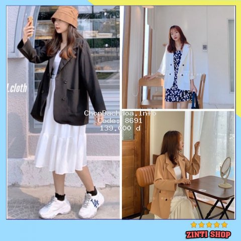 Áo Blazer nữ phong cách hàn quốc- Áo khoác vest ulzzang