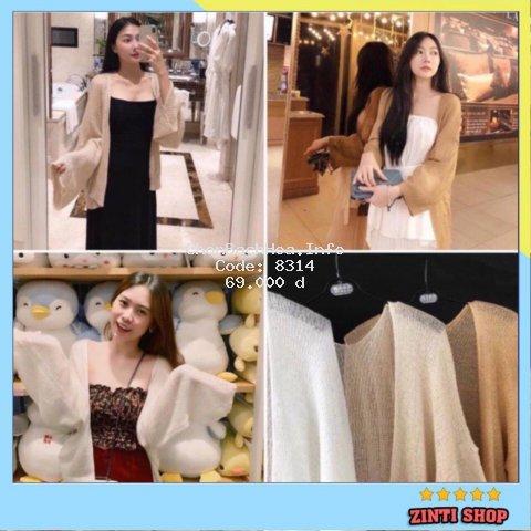 Áo cardigan len mỏng nữ hàng Quảng Châu SIÊU ĐẸP ZINTI