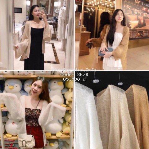 Áo cardigan len mỏng nữ hàng Quảng Châu