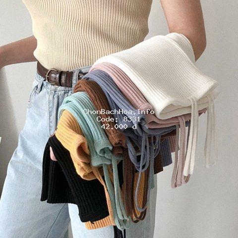 Áo hai dây dệt kim thời trang xinh xắn cho nữ