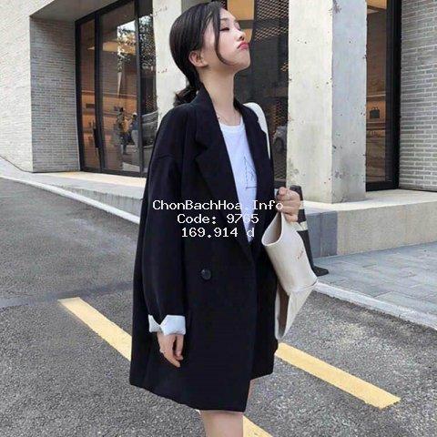 Áo Khoác Vest Dáng Rộng Kiểu Hàn Quốc Dễ Phối Đồ Cho Nữ