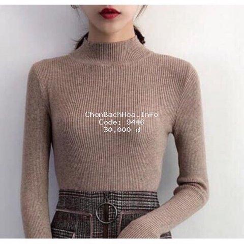 Áo len nữ -Áo len tăm có cổ chất đẹp [ảnh thật]