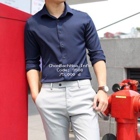 Áo sơ mi nam dài tay Hàn Quốc vải lụa thái chống nhăn cao cấp.(CAM KẾT ẢNH THẬT)