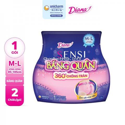Băng đêm dạng quần Diana size M-L 2 chiếc/ gói
