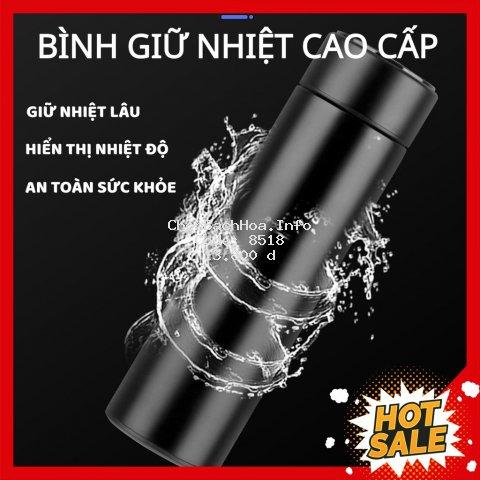 Bình Giữ Nhiệt Cao Cấp Hiển Thị Nhiệt Độ Ruột Inox Dung Tích 500ml