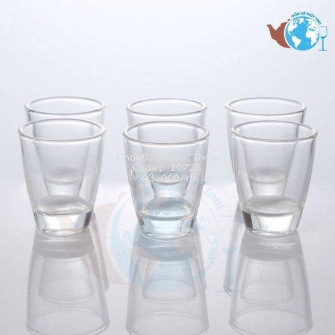 Bộ 6 ly thủy tinh uống rượu nhỏ dễ thương - 6 ly rượu đáy bầu