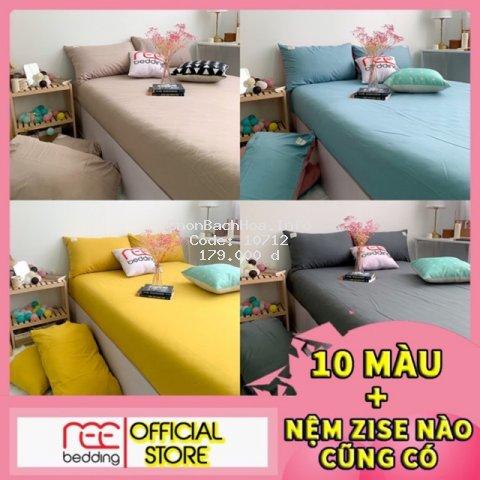 Bộ ga giường và vỏ gối Cotton TC REE Bedding đủ kích thước trải nệm 1m2, 1m4, 1m6, 1m8, 2m chưa gồm chăn cực đẹp CTC33