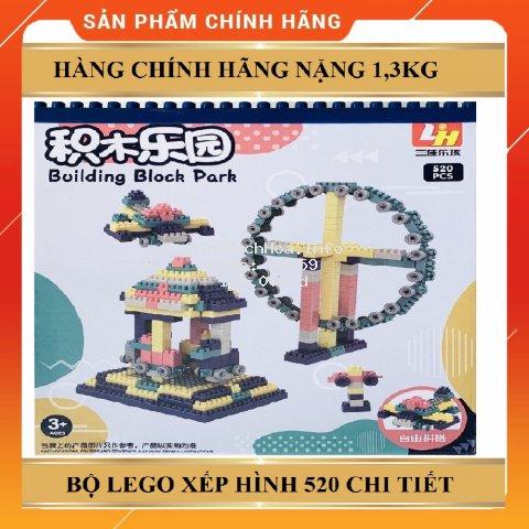 BỘ LEGO GHÉP HÌNH 520 CHI TIẾT SIÊU TRÍ TUỆ ( GIA DỤNG RẺ )