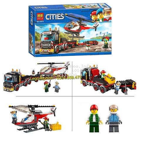 Bộ Lego Xếp Hình Ninjago City  Siêu Vận Chuyển . Gồm 322 chi tiết . Lego Ninjago Lắp Ráp Đồ Chơi Cho Bé.