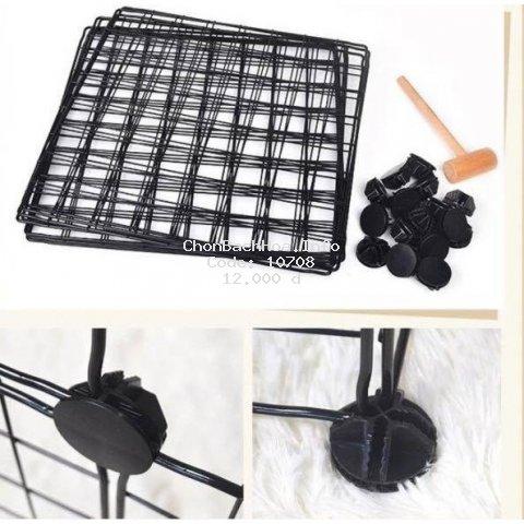 (bỏ sỉ) Lưới sắt thép,tấm nhựa lắp ghép làm chuồng quây thú cưng, tủ sách,tủ ghép-Tặng kèm chốt