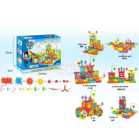 Bộ xếp hình khối xây dựng bánh răng quay PAW PATROL. Lego Đồ Chơi Cho Bé