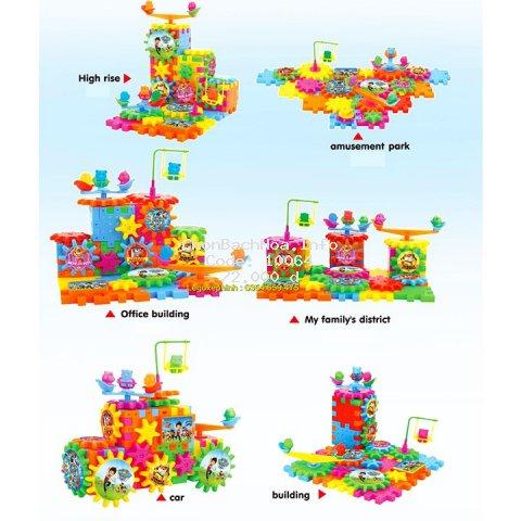 Bộ xếp hình Lego khối xây dựng bánh răng quay PAW PATROL. Lego Ninjago Đồ Chơi Cho Bé