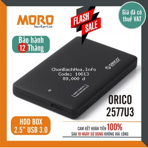 Box ổ cứng 2.5'' Orico 2577U3 / 2139U3 / 2020U3 Sata 3.0 - Dùng cho HDD, SSD - SP Chính hãng bảo hành 12 tháng!
