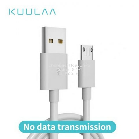 Cáp sạc KUULAA Micro USB cho Xiaomi Redmi 7 dài 30cm