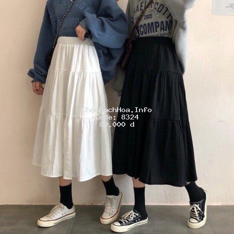 Chân Váy NữHai lớp Siêu Xinh Màu Trắng Zinti