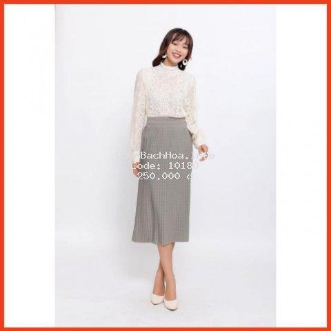 Chân Váy Xếp Ly Sọc Kẻ Phong Cách Vintage Cho Các Bạn Gái, Chân Váy Midi Dài Chất Liệu Dày Dặn Chuẩn Form Hàng Thiết Kế