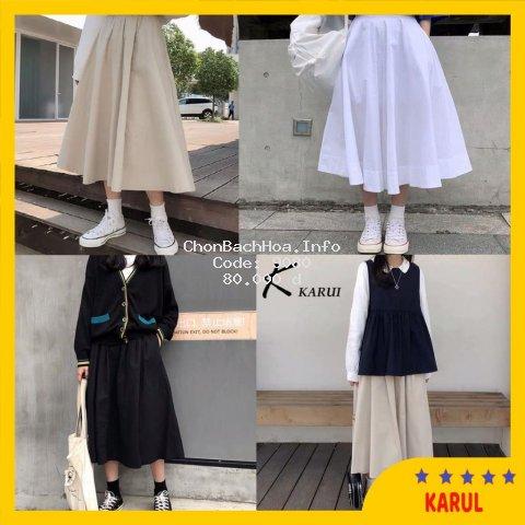 Chân váy xòe, chân váy vải thôi - CV003