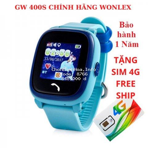[CHÍNH HÃNG] Đồng Hồ Định Vị Trẻ Em Thông Minh Wonlex GW400S Chống Nước Giá Rẻ Dành Cho Trẻ Em