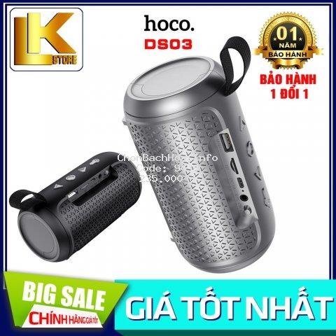?CHÍNH HÃNG?Loa Nghe Nhạc Bluetooth Hoco DS03 V5.0 - Nghe USB, TF, AUX, Tích Hợp Đèn Pin Mini {BẢO HÀNH 12 THÁNG}