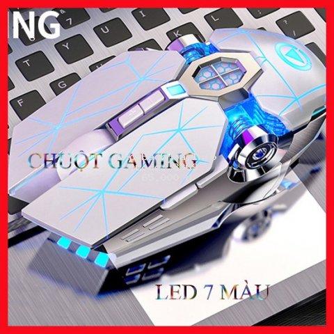 [CHUẨN GAMING] Chuột máy tính Q7  LED 7 màu lung linh, siêu nhạy để chơi game hay làm việc văn phòng BH 6 tháng