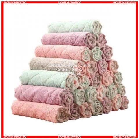 [Combo 10] - Khăn Lau ZIK ZIK 2 Mặt Chất Liệu Cotton Siêu Thấm Hút